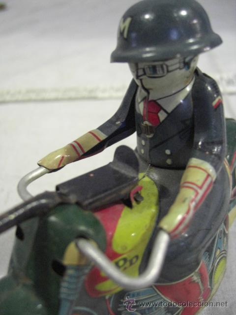 Juguetes antiguos de hojalata: Moto fabricada en Japón. Japan. PD. Hojalata. - Foto 7 - 26914079