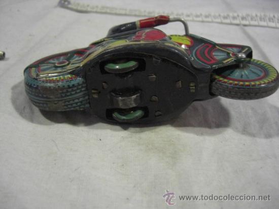 Juguetes antiguos de hojalata: Moto fabricada en Japón. Japan. PD. Hojalata. - Foto 9 - 26914079