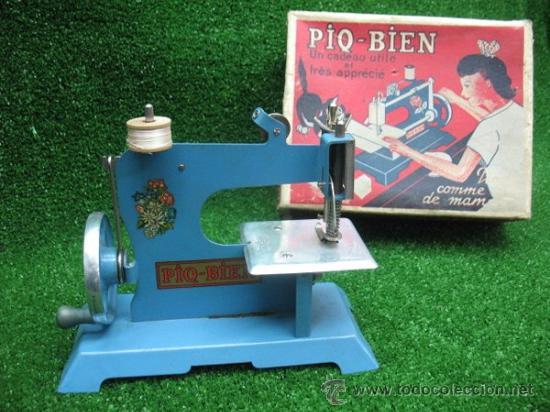 PIQ-BIEN MAQUINA DE COSER, FRANCESA (Juguetes - Juguetes Antiguos de Hojalata Extranjeros)