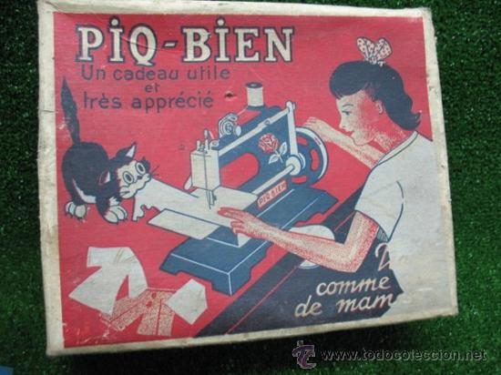 Juguetes antiguos de hojalata: PIQ-BIEN MAQUINA DE COSER, FRANCESA - Foto 2 - 25880934