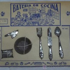 Juguetes antiguos de hojalata: BATERIA DE COCINA DE HOJALATA. Lote 24874181