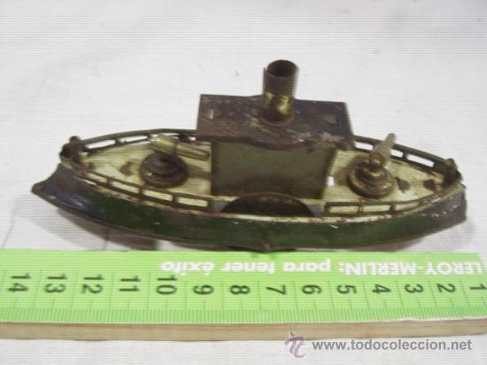 Juguetes antiguos de hojalata: Barco pequeño muy antiguo. Años 1900 / 1920. Posible Marklin ¿¿??. - Foto 2 - 26598333