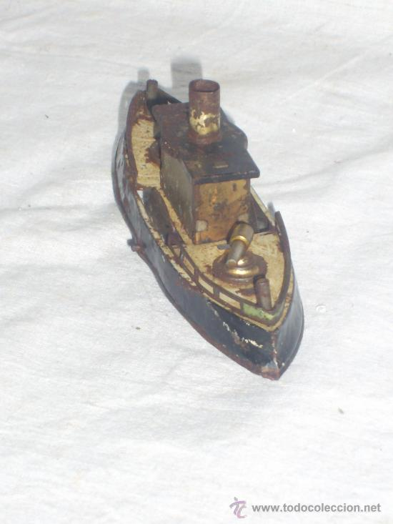Juguetes antiguos de hojalata: Barco pequeño muy antiguo. Años 1900 / 1920. Posible Marklin ¿¿??. - Foto 18 - 26598333