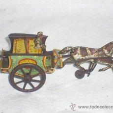 Juguetes antiguos de hojalata: CARRO RICO DE OJALATA CON FIGURA.. Lote 26651978