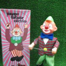 Juguetes antiguos de hojalata: CLIM - PAYASO SALTADOR ELECTRICO. Lote 25880976