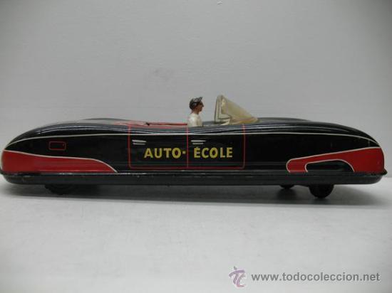 Juguetes antiguos de hojalata: PRECIOSO COCHE FUTURISTA AUTO-ECOLE - Foto 2 - 27854254