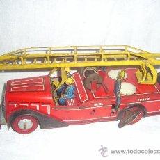 Juguetes antiguos de hojalata - Camión de Bomberos. Juguete Francés. Fabricado por Joustra. - 28388846