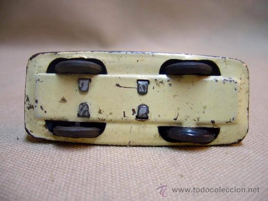 Juguetes antiguos de hojalata: COCHE, HOJALATA, 7 CM, RUEDAS PLASTICO - Foto 2 - 29196487