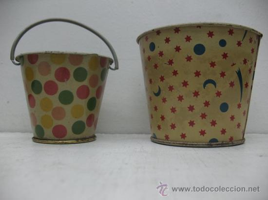 JUEGO DE CUBOS ANTIGUOS (Juguetes - Juguetes Antiguos de Hojalata Españoles)