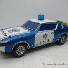 Juguetes antiguos de hojalata: EGE - COCHE DE POLICIA CON MECANISMO A PILAS - . Lote 28963346