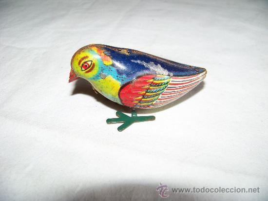 Juguetes antiguos de hojalata: ANTIGUO PAJARO A CUERDA INGLÉS - Foto 6 - 29011751