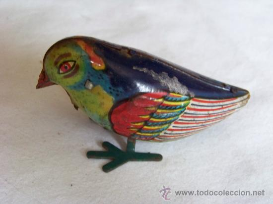 Juguetes antiguos de hojalata: ANTIGUO PAJARO A CUERDA INGLÉS - Foto 2 - 29011751