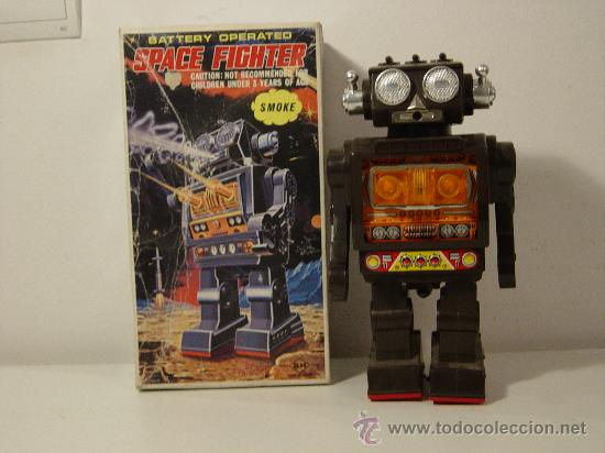 ROBOTS-ROBOT JAPONES SPACE FIGHTER HORIKAWA (Juguetes - Juguetes Antiguos de Hojalata Extranjeros)
