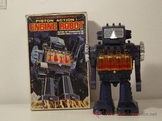 ROBOTS - ROBOT JAPONES SH HORIKAWA PISTON ACTION ENGINE ROBOT (Juguetes - Juguetes Antiguos de Hojalata Extranjeros)