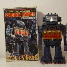 Juguetes antiguos de hojalata: ROBOTS - ROBOT JAPONES SH HORIKAWA PISTON ACTION ENGINE ROBOT. Lote 29102091
