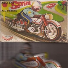 Juguetes antiguos de hojalata: JUGUETE-MOTO SPRINT CON FRICCION-JUGUETES ROMAN-. Lote 29788945