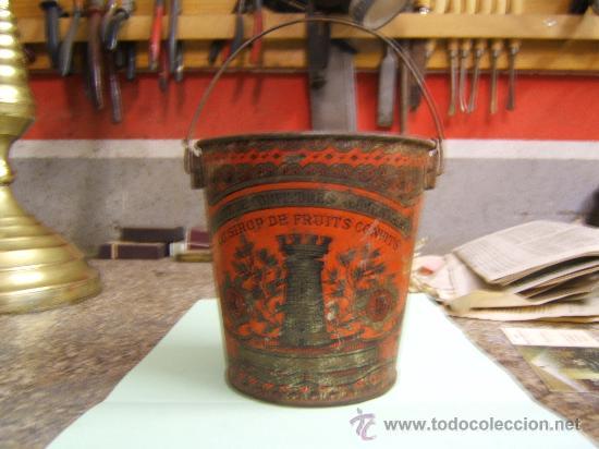 CUBO LITOGRAFIADO DE HOJALATA (Juguetes - Juguetes Antiguos de Hojalata Extranjeros)