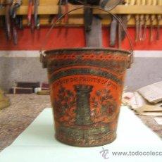 Juguetes antiguos de hojalata: CUBO LITOGRAFIADO DE HOJALATA. Lote 29789750