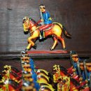 Juguetes antiguos de hojalata: CABALLERIA MONTADA GUARDIAS REALES PAYA ORIGINALES. Lote 29846886