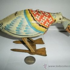 Juguetes antiguos de hojalata: ESPECTACULAR GANSO DE HOJALATA MADE IN GRAN BRITAIN. Lote 30149531