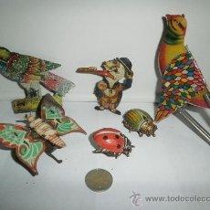 Juguetes antiguos de hojalata - SEIS PIEZASA DE HOJALATA - 30149727