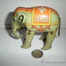 Juguetes antiguos de hojalata: ELEFANTE JUMBO MADE IN USA ZONA GERMANY . Lote 30150285