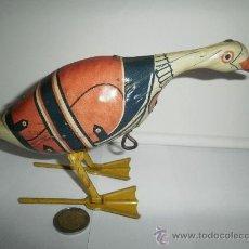 Juguetes antiguos de hojalata: PRECIOSO GANSO EN UN GRAN ESTADO,. Lote 30150359