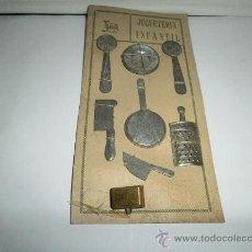 Juguetes antiguos de hojalata: BLISTER DE BATERIA DE COCINA. Lote 30260885