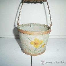 Juguetes antiguos de hojalata: CUBO DE MADERA. Lote 30262818