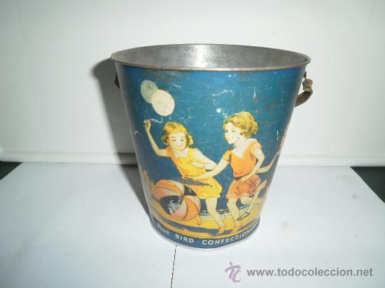 Juguetes antiguos de hojalata: PRECIOSO CUBO DE HOJALATA MADE IN ENGLAND - Foto 3 - 30277718
