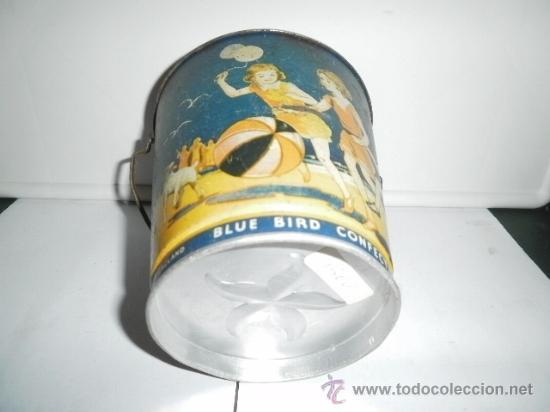 Juguetes antiguos de hojalata: PRECIOSO CUBO DE HOJALATA MADE IN ENGLAND - Foto 2 - 30277718