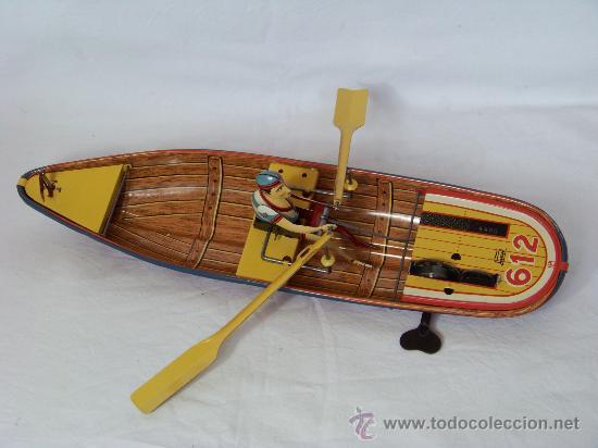 Juguetes antiguos de hojalata: BARCA CON REMERO PAYA EDICION LIMITADA 5000 UNIDADES MADE IN SPAIN - Foto 4 - 30455466