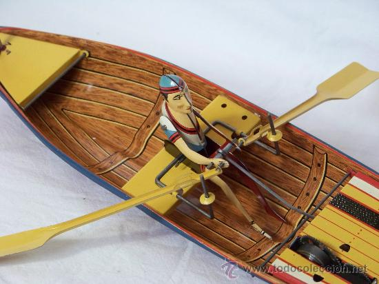 Juguetes antiguos de hojalata: BARCA CON REMERO PAYA EDICION LIMITADA 5000 UNIDADES MADE IN SPAIN - Foto 2 - 30455466