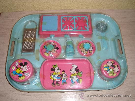 Juego De Cocina De Lata O Metal Mickey Mouse Comprar Juguetes