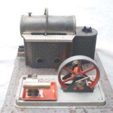 Juguetes antiguos de hojalata: PLANTA VAPOR VIVO. WILESCO D8. STACIONARY ENGINE.. Lote 30956515