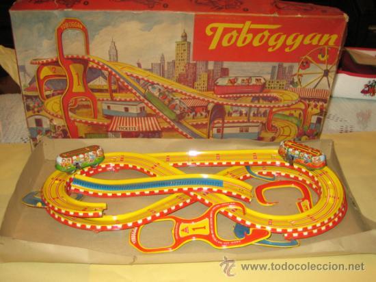 TECHNOFIX - TOBBOGAN - AÑOS 50-60 - - VER FOTOS (Juguetes - Juguetes Antiguos de Hojalata Extranjeros)