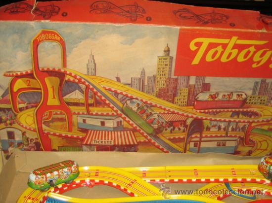 Juguetes antiguos de hojalata: TECHNOFIX - TOBBOGAN - AÑOS 50-60 - - VER FOTOS - Foto 4 - 31198300