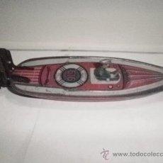 Juguetes antiguos de hojalata: LANCHA 616 DE PAYA. Lote 31539804