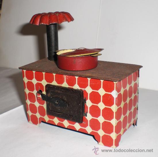 Juguetes antiguos de hojalata: Bonita Cocina de Hojalata Antigua - Foto 2 - 32132717