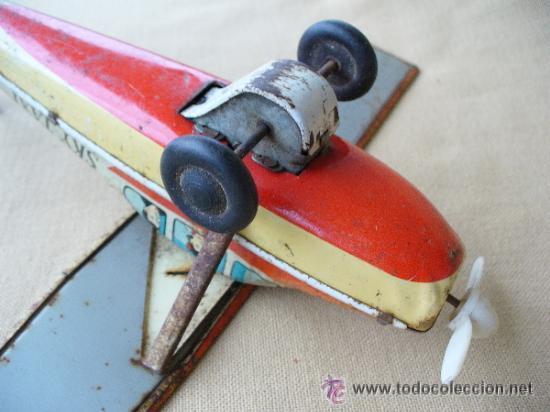 Juguetes antiguos de hojalata: AVIONETA CESSNA DE HOJALATA A FRICCION - JAPAN - Foto 8 - 32202399