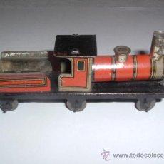 Juguetes antiguos de hojalata: ANTIGUA LOCOMOTORA HOJALATA, 1900.. Lote 32578593