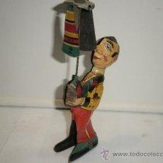 Juguetes antiguos de hojalata: MALABARISTA DE PAYA. Lote 32731041