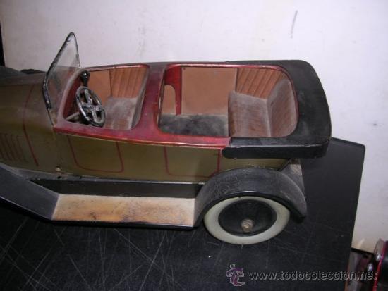 Juguetes antiguos de hojalata: COCHE DE HOJALATA ANTIGUO DELAGE AUTOMOBILLES J de P BREVETE PARIS MADE IN FRANCE 9 - Foto 3 - 32901762