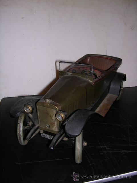 Juguetes antiguos de hojalata: COCHE DE HOJALATA ANTIGUO DELAGE AUTOMOBILLES J de P BREVETE PARIS MADE IN FRANCE 9 - Foto 4 - 32901762