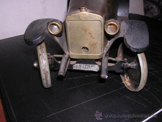 Juguetes antiguos de hojalata: COCHE DE HOJALATA ANTIGUO DELAGE AUTOMOBILLES J de P BREVETE PARIS MADE IN FRANCE 9 - Foto 5 - 32901762