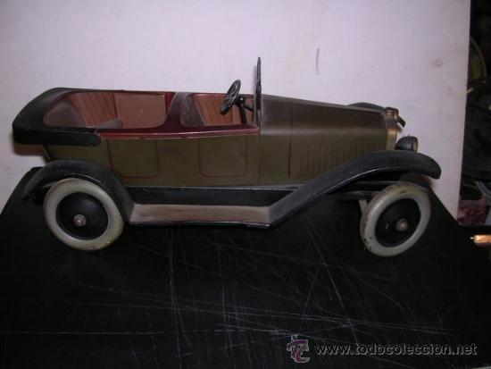 Juguetes antiguos de hojalata: COCHE DE HOJALATA ANTIGUO DELAGE AUTOMOBILLES J de P BREVETE PARIS MADE IN FRANCE 9 - Foto 6 - 32901762