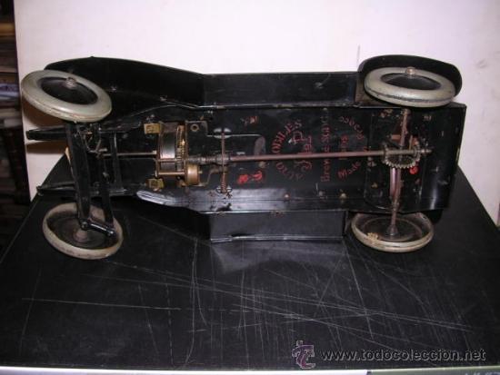 Juguetes antiguos de hojalata: COCHE DE HOJALATA ANTIGUO DELAGE AUTOMOBILLES J de P BREVETE PARIS MADE IN FRANCE 9 - Foto 13 - 32901762