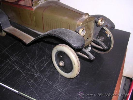 Juguetes antiguos de hojalata: COCHE DE HOJALATA ANTIGUO DELAGE AUTOMOBILLES J de P BREVETE PARIS MADE IN FRANCE 9 - Foto 20 - 32901762