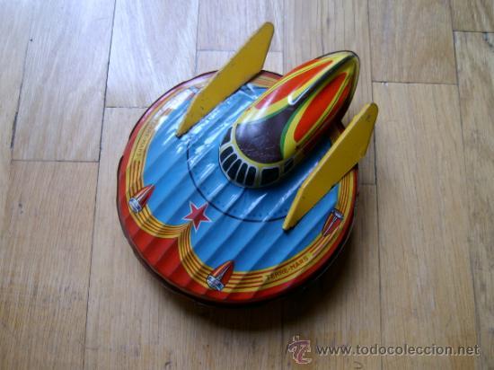 NAVE ESPACIAL TERRE MARS SFA PARIS - HOJALATA - JUGUETE ANTIGUO - COLECCIONISMO (Juguetes - Juguetes Antiguos de Hojalata Extranjeros)