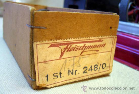 Juguetes antiguos de hojalata: ANTIGUA CALDERA A VAPOR, FABRICADA POR FLEISCHMANN, ALEMANIA, 1930s, EN SU CAJA - Foto 19 - 35488329